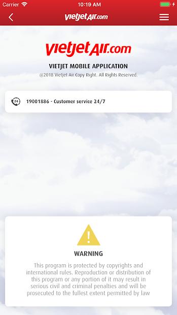 Screenshots VietJet Air: Ứng dụng đặt vé máy bay online, check in trực tuyến