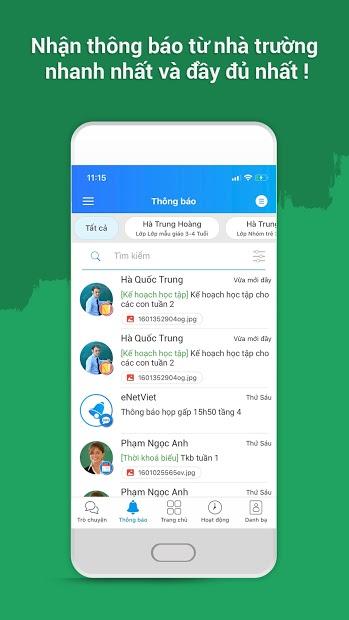Screenshots Tải ứng dụng eNetViet: app xem điểm, kết quả học tập học sinh