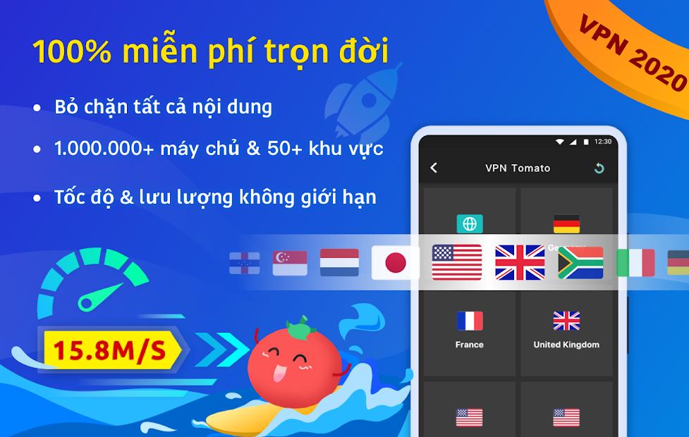 Screenshots VPN Tomato miễn phí - Ứng dụng truy cập mạng chặn nhanh