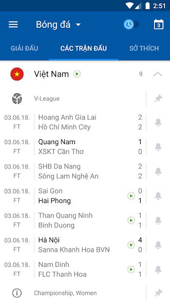 Screenshots SofaScore - Ứng dụng cập nhật kết quả trực tiếp và tin tức chi tiết các trận đấu
