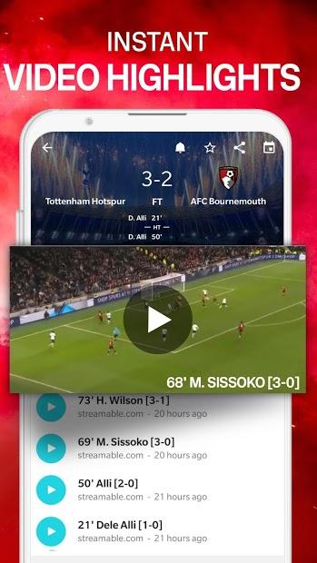 Screenshots Forza Football - Ứng dụng xem kết quả tỷ số bóng đá trực tiếp