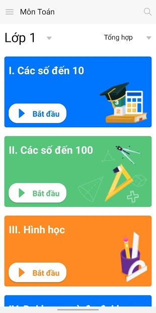 Screenshots VioEdu - Ứng dụng tự học tại nhà cho học sinh lớp 1 - 9
