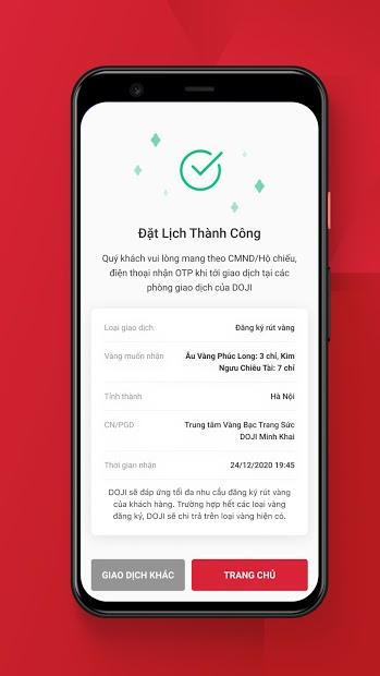 Screenshots Tải eGold: Ứng dụng mua bán vàng DOJI trực tuyến