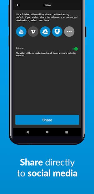 Screenshots Wevideo - Ứng dụng ghép video trực tuyến miễn phí