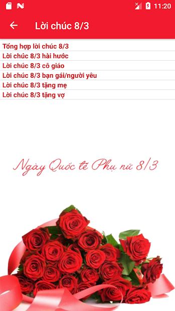 Screenshots Lời chúc 8/3 hay nhất - Tổng hợp câu chúc 8/3 tặng mẹ, vợ, người yêu