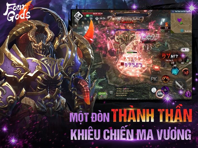 Screenshots Four Gods M - Tứ Hoàng Mobile | Siêu phẩm game ARPG Hàn Quốc