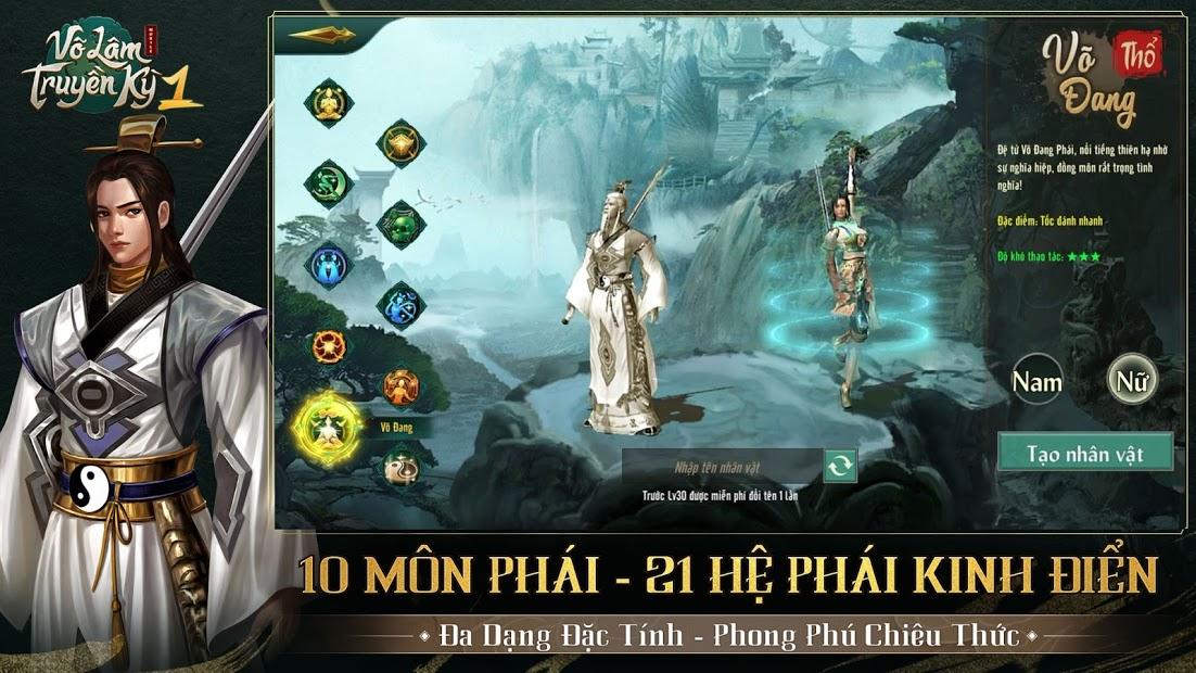 Screenshots Võ Lâm Truyền Kỳ 1 Mobile - Huyền thoại game kiếm hiệp