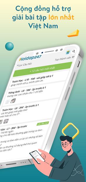 Screenshots Hoidap247: Hỏi đáp bài tập nhanh, chính xác, miễn phí