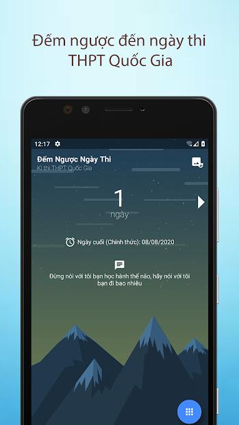 Screenshots App Đếm Ngược Ngày Thi: Đếm ngược thời gian thi THPTQG