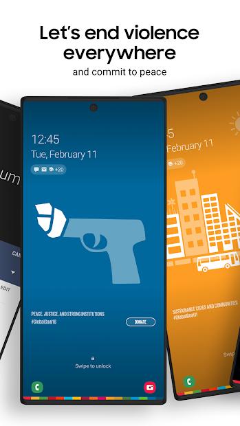 Screenshots Samsung Global Goals - App đóng góp phát triển bền vững của Samsung và Liên Hợp Quốc