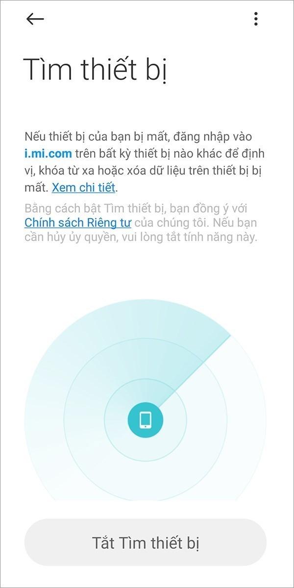 Screenshots Mi Cloud - Dịch vụ lưu trữ đám mây của điện thoại Xiaomi