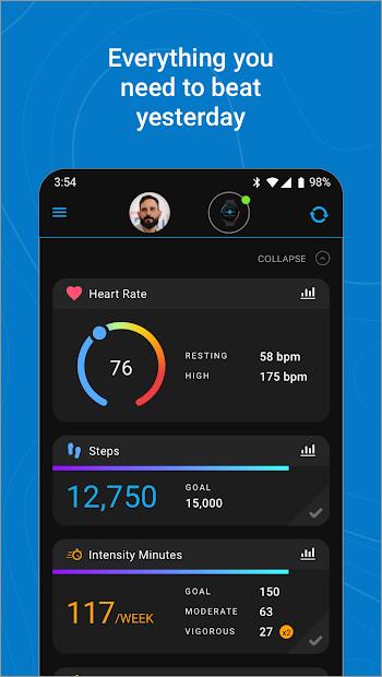 Screenshots Garmin Connect - Ứng dụng theo dõi, phân tích dữ liệu sức khỏe