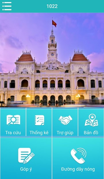 Screenshots Tổng đài 1022: Cổng tiếp nhận và giải đáp thông tin sự cố hạ tầng thành phố Hồ Chí Minh