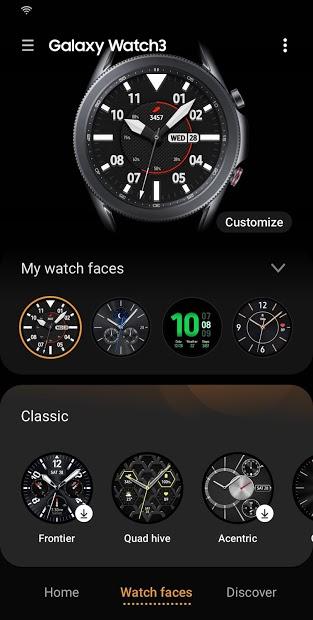 Screenshots Galaxy Wearable - Ứng dụng kết nối đồng hồ, tai nghe Samsung