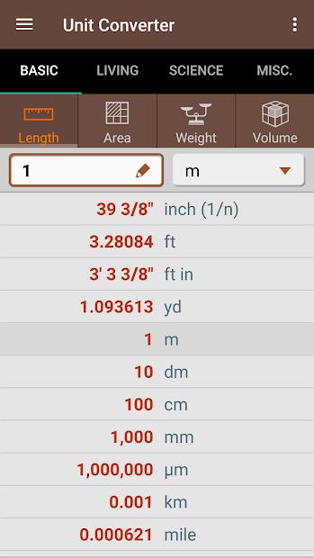 Screenshots Unit Converter - Công cụ chuyển đổi đơn vị chính xác