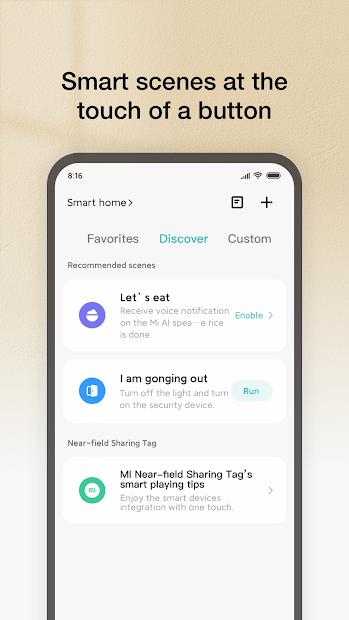 Screenshots Mi Home: Ứng dụng quản lý tất cả các thiết bị Xiaomi
