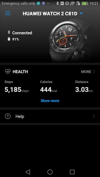 Screenshots Huawei Wear: Ứng dụng quản lý các thiết bị đeo thông minh của Huawei