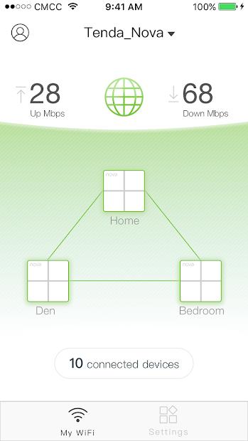 Screenshots Tenda WiFi: Ứng dụng quản lý Router Wifi của Tenda