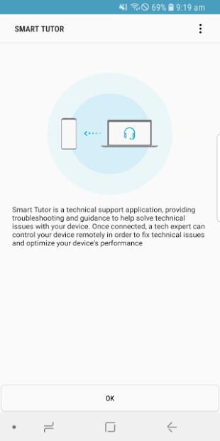 Screenshots Smart Tutor: Dịch vụ hỗ trợ Kỹ thuật từ xa cho thiết bị Samsung