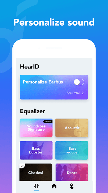 Screenshots Soundcore: Ứng dụng điều khiển thiết bị loa, tai nghe Anker