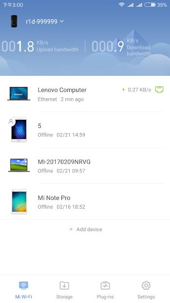 Screenshots Mi Wi-Fi: Ứng dụng thiết lập và quản lý Router Xiaomi