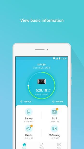 Screenshots tpMiFi: Ứng dụng quản lý bộ phát WiFi di động TP-Link