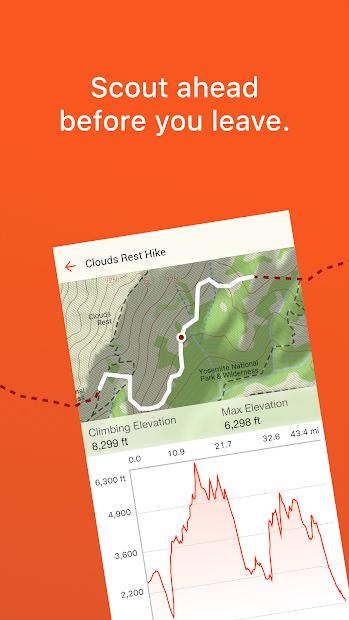 Screenshots Garmin Explore: Ứng dụng bản đồ cho các hoạt động ngoài trời