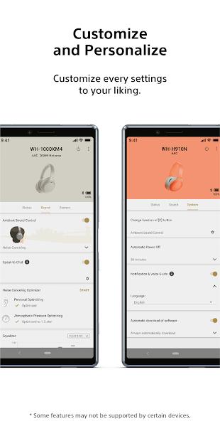 Screenshots Sony | Headphones Connect: Ứng dụng điều khiển tai nghe Sony