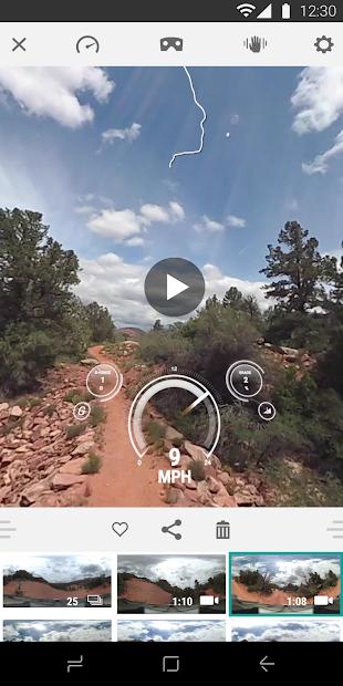 Screenshots VIRB® Mobile: Ứng dụng điều khiển máy quay Garmin 360 độ