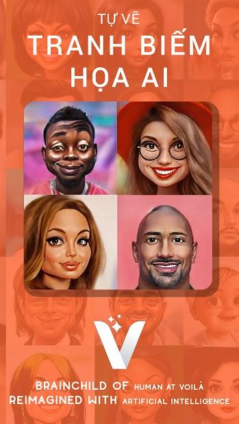 Screenshots Tải Voila AI Artist: Ứng dụng tạo ảnh nhân vật hoạt hình Disney