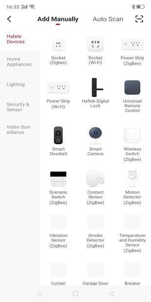 Screenshots Hafele Smart Living: Ứng dụng quản lý thiết bị gia đình thông minh