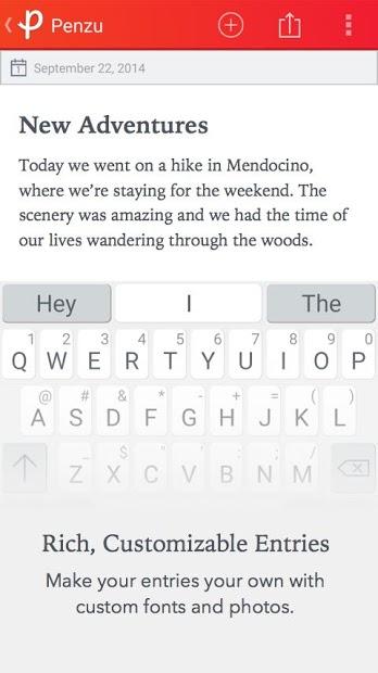 Screenshots Penzu - Viết nhật ký hành trình, bullet journal miễn phí
