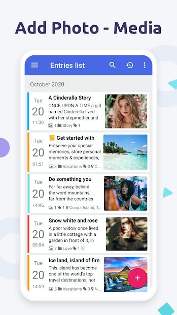 Screenshots Diaro - Ứng dụng viết nhật ký, ghi chú sự kiện và tâm trạng