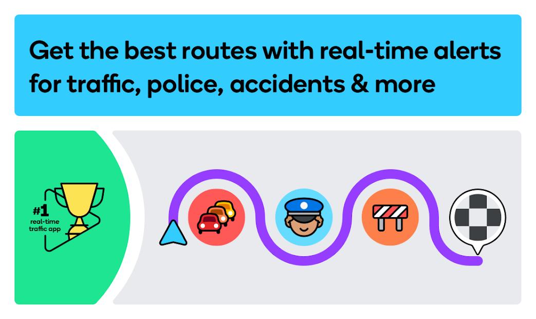 Screenshots Waze - Công cụ chỉ đường và cảnh báo giao thông trực tiếp bằng định vị GPS
