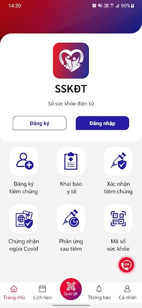 Screenshots Tải app Sổ sức khỏe điện tử: Đăng ký tiêm vắc-xin, app thẻ xanh covid