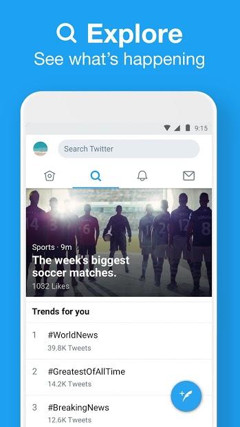 Screenshots Tải Twitter Lite: Truy cập Twitter tiết kiệm dữ liệu