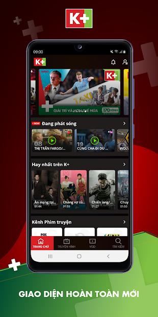 Screenshots Tải K+: Ứng dụng xem TV và VOD