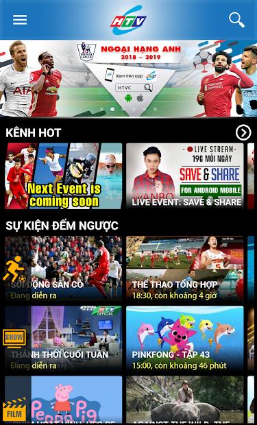 Screenshots HTVC - Xem TV mọi lúc mọi nơi cùng truyền hình cáp HTV
