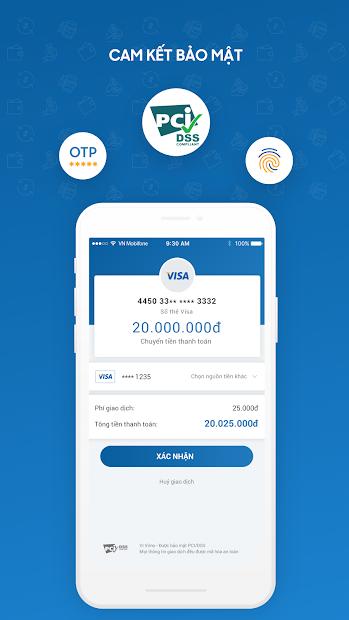 Screenshots Tải Vimo: Ví điện tử thanh toán trực tuyến, chuyển/nhận/rút tiền nhanh chóng, an toàn