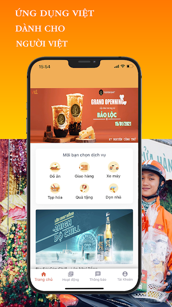 Screenshots VILL - Ứng Dụng Gọi Xe , Giao Đồ Ăn