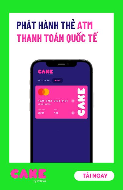 Screenshots Ứng dụng Cake by VPBank: Ngân hàng số miễn phí trọn đời