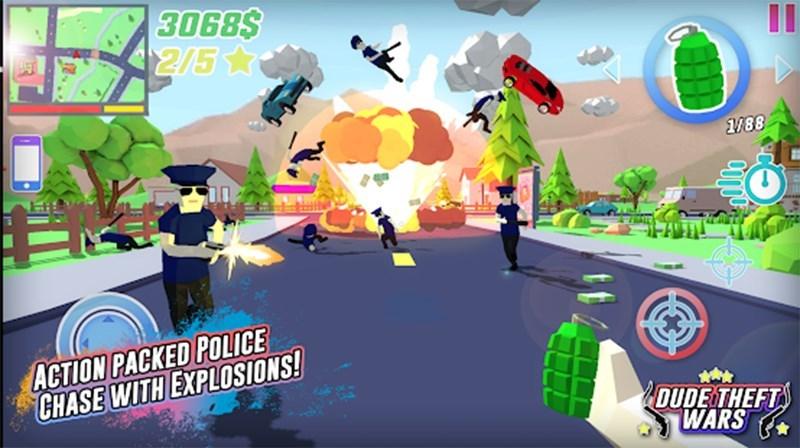 Screenshots Dude Theft Wars - Game bạo loạn đường phố phiên bản vui nhộn