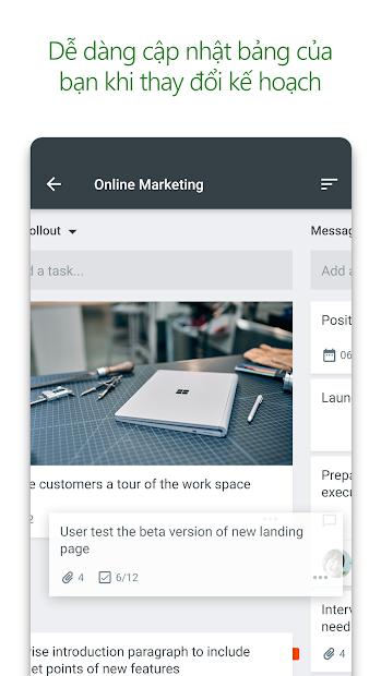 Screenshots Microsoft Planner - Công cụ lập kế hoạch, quản lý công việc