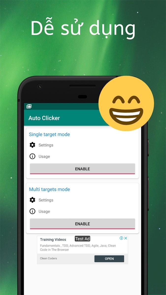 Screenshots Tự động click - Ứng dụng auto click không cần root