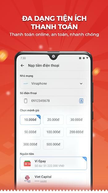 Screenshots Gpay - Thanh toán đa kênh, chuyển tiền siêu tốc