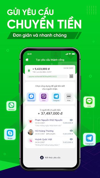 Screenshots PayME - Nền tảng ví điện tử và thanh toán qua mạng xã hội