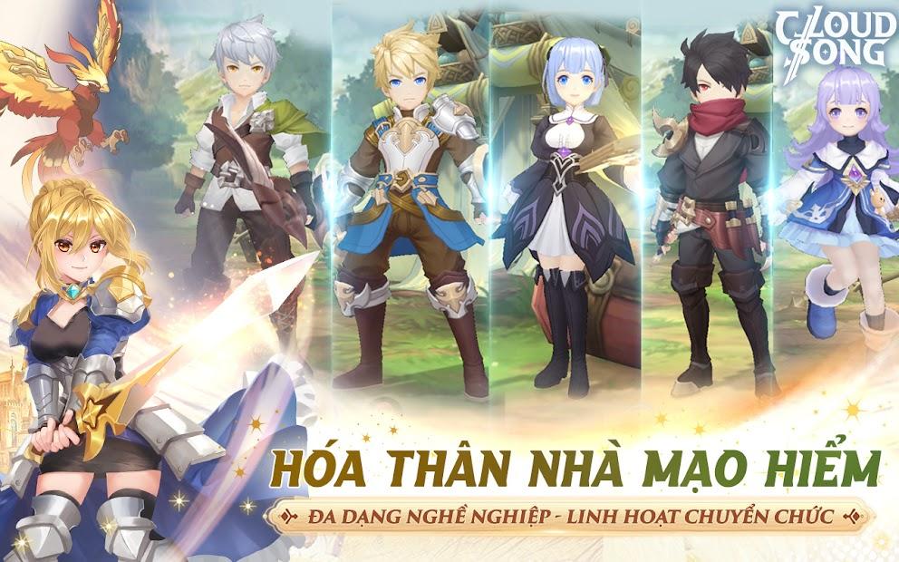 Screenshots Cloud Song: Vân Thành Chi Ca Game đồ họa chibi hấp dẫn