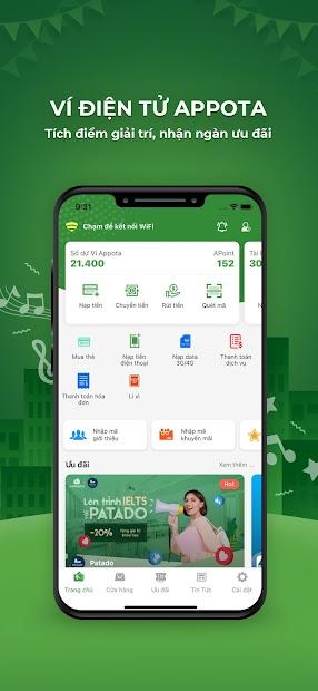 Screenshots Ví Appota: Ứng dụng giải trí tích điểm