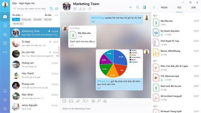 Screenshots Zalo - Ứng dụng mạng xã hội phổ biến Việt Nam