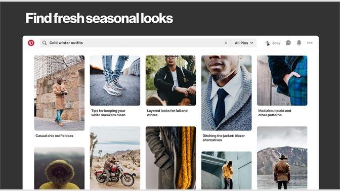 Screenshots Pinterest - khám phá và lưu giữ tất cả mọi ý tưởng